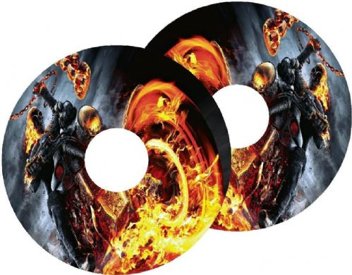 MOTORBIKE FLAME Wheelchair Spoke Guard Sticker Skins